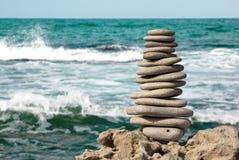 Stenar på havet Royaltyfri Fotografi