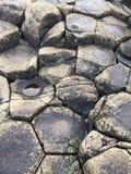 Stenar på jättevägbanken Arkivbilder
