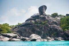 Stenar på Similan öar Arkivfoton