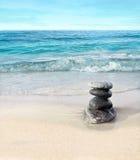 Stenar på stranden Royaltyfria Bilder