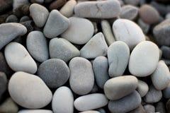 Stenar på stranden, grå färgstenar, många stenar Royaltyfria Foton