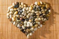 Stenar som formas som en hjärta royaltyfri bild
