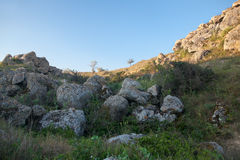 Stenar som har stupat Fotografering för Bildbyråer