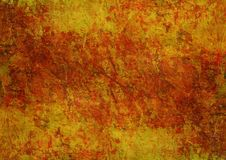 Stenar som målar för apelsinbrunt för mystiker mörk Rusty Distorted Decay Old Abstract för gul röd Grunge textur Autumn Backgroun royaltyfri foto