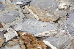 Stenar texturerar och bakgrund tät rocktextur upp Royaltyfria Bilder