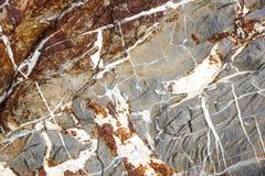 Stenar texturerar och bakgrund tät rocktextur upp Arkivbild