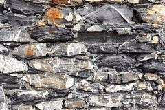 Stenar texturerar och bakgrund tät rocktextur upp Arkivfoton