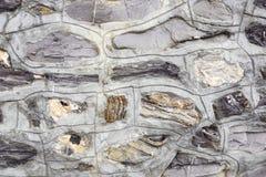 Stenar texturerar och bakgrund tät rocktextur upp Royaltyfri Fotografi