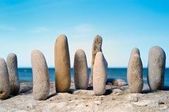 stenar trä Arkivfoto