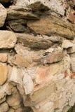Stenarna av en forntida fästning Royaltyfria Foton