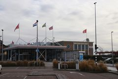 The Stenau terminal of Hoek van Holland for the ferry to Harwich in England over the North Sea. The Stenau terminal of Hoek van Holland for the ferry to Harwich stock images