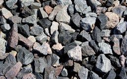 Stenbakgrund, stenar Bilden kan användas som en bakgrund Krossad stentextur Stenkonstruktion vaggar Top beskådar Royaltyfri Fotografi