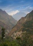 Stenbana i bergen Arkivbilder