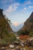 Stenbana i bergen Fotografering för Bildbyråer