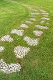 Stenbana i trädgården Royaltyfri Foto
