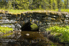 Stenbågebro Jamtland Arkivfoto