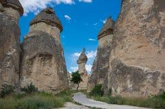 Stenbildande i Cappadocia, Turkiet Arkivbild