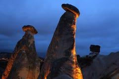 Stenbildandet av cappadociakalkon arkivfoto