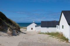Stenbjerg jest wioską rybacką na poprzedniej wyspie Thy th wewnątrz zdjęcia stock