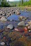 Stenblock i floden på absolutismdelstatsparken Minnesota arkivbild