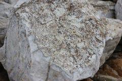 Stenblock och vaggar på kuster av fågeln vaggar, Pebble Beach, 17 mil drev, Kalifornien, USA Royaltyfri Fotografi