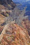 Stenblockfördämning, Nevada fotografering för bildbyråer