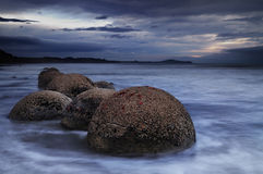 stenblockmoeraki New Zealand Royaltyfri Foto