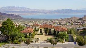 Stenblockstad i Nevada Arkivbilder