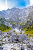 Stenblockstenar i Koenigssee, Konigsee, Berchtesgaden nationalpark, Bayern, Tyskland royaltyfria foton