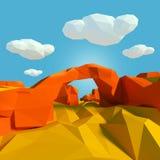 Stenbro i öknen vektor illustrationer