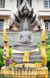 StenBuddhastaty, buddism, Thailand Arkivbilder