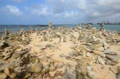 Stenbuntar i Aruba arkivfoton