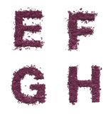 Stencil alphabet from cosmetic. Products Stock Photography