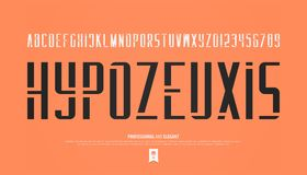 Stencil alphabet letters and numbers. vector, geometric font type Royalty Free Stock Images