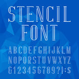 Stencil alphabet vector font. Royalty Free Stock Photography