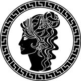 Stencil of aristocrat woman Stock Photography