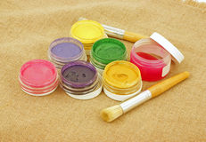 Stencil Art Supplies Royalty Free Stock Image