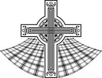 Stencil av det skotska celtic korset Arkivfoton