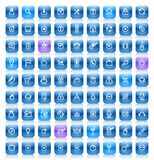 Stencil blue buttons Stock Image