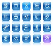 Stencil blue buttons for business Royalty Free Stock Images