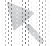 Stencil of brick wall Royalty Free Stock Images