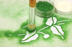 Stencil Brush Paint Royalty Free Stock Image