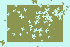 Stencil butterfly pattern design in green and blue Stock Photography