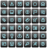 Stencil buttons for websites Stock Image