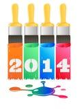 Stencil 2014 Stock Image