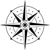 Stencil of compass Stock Images