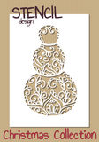 Stencil design template. Christmas collection Royalty Free Stock Image