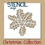 Stencil design template. Christmas collection Royalty Free Stock Images
