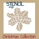 Stencil design template. Christmas collection Stock Photos