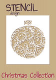 Stencil design template. Christmas collection Stock Images